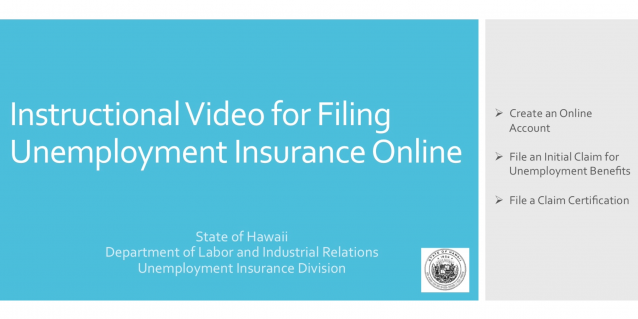 Instructional Video for Filing Unemployment Insurance Online