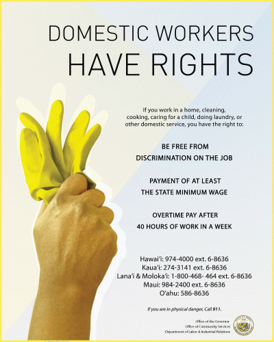 Domestic Workers Rights Poster