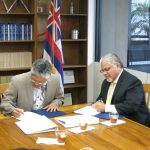 WSD MOU Signing with West Regional Administrator Ruben Rosalez