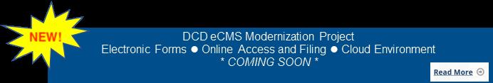 DCD Modernization Banner